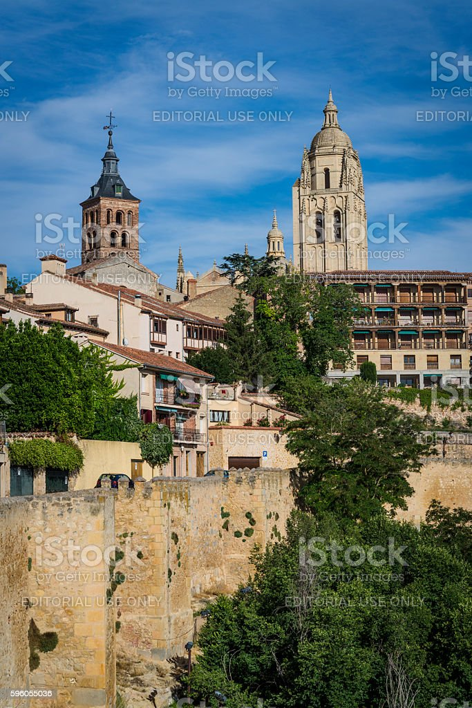 Cityscape, Segovia, Castilla y Leon, Spain royalty-free stock photo