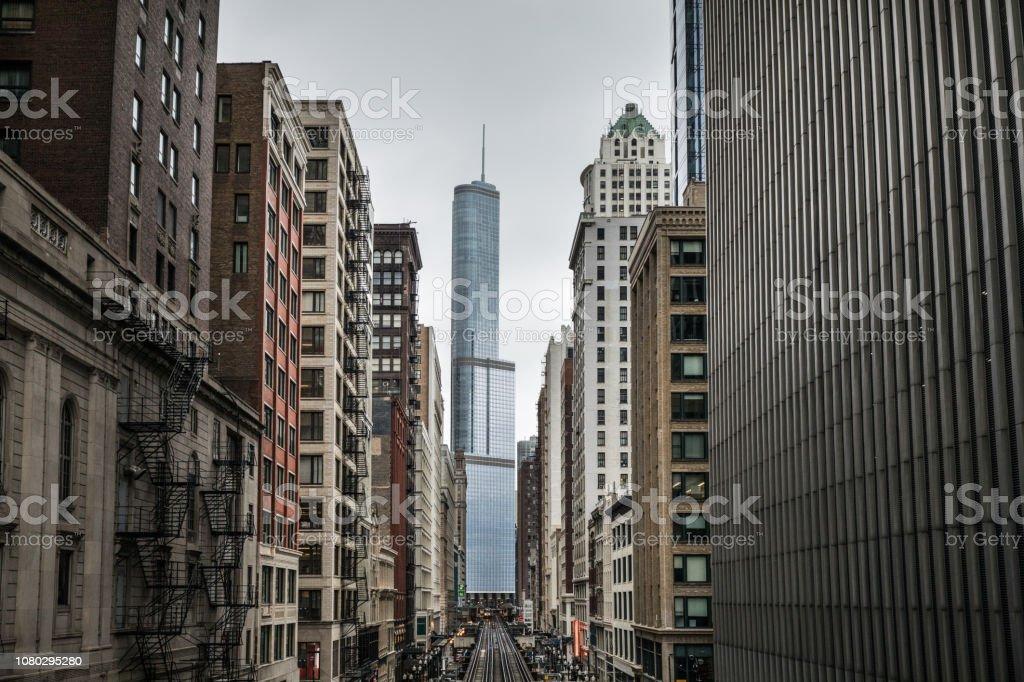 Cityscape skyline of Chicago USA stock photo