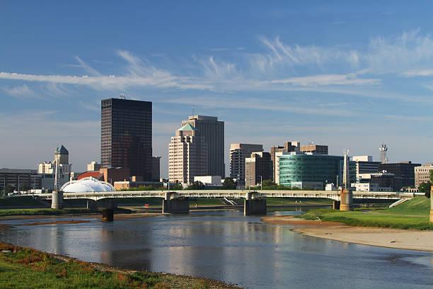 Cityscape Skyline of Dayton, Ohio, USA. Morning. stock photo
