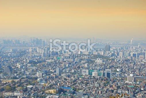 Cityscape top eye view of Seoul, Southe Korea