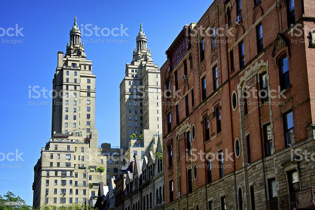 Cityscape, Upper West Side Contrasts, Manhattan, New York City royalty-free stock photo