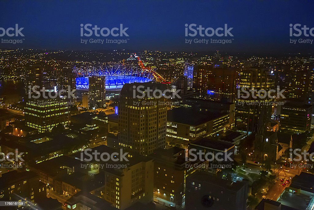 Cityscape: Vancouver at night royalty-free stock photo