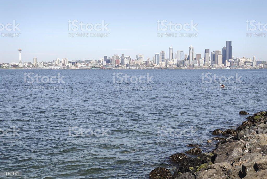 Cityscape View, Elliott Bay, Seattle, USA royalty-free stock photo
