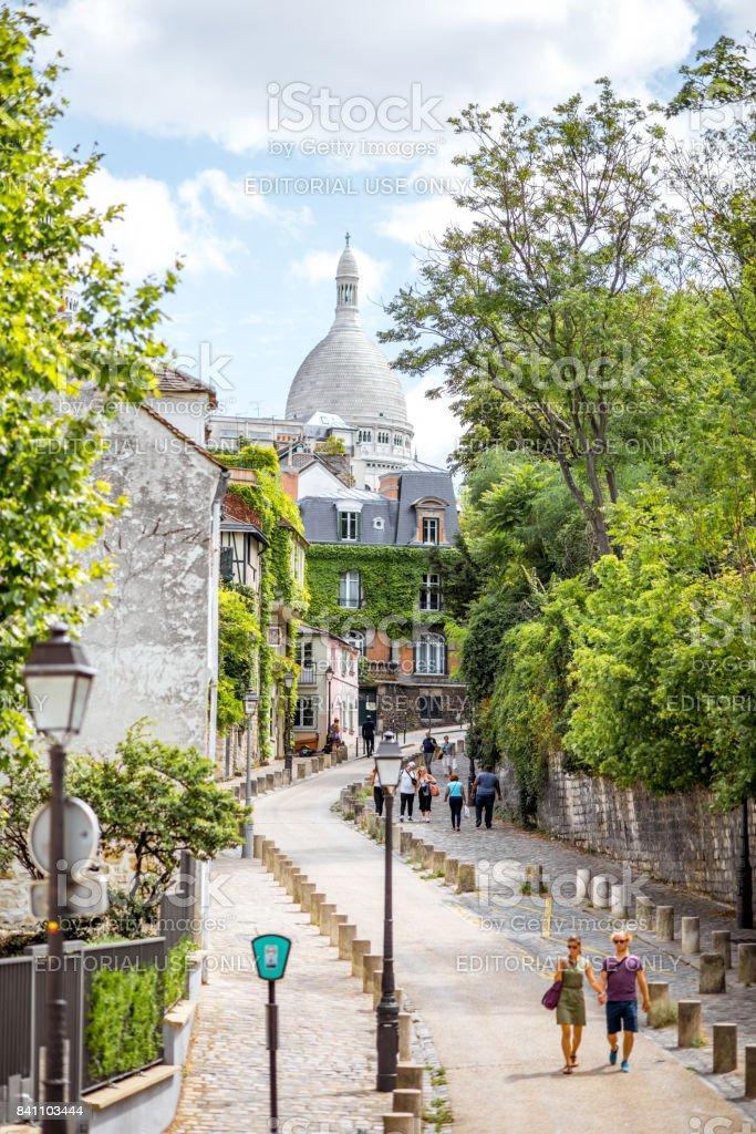 Cityscape view in Paris stock photo