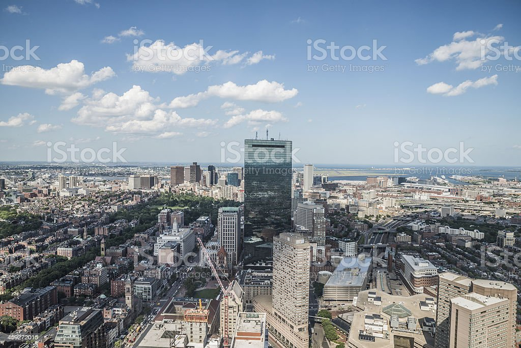Cityscape view of downtown Boston stock photo