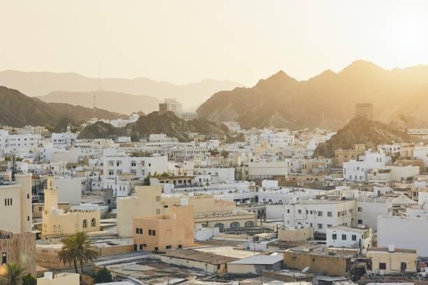 cityscape view of muscat - oman стоковые фото и изображения