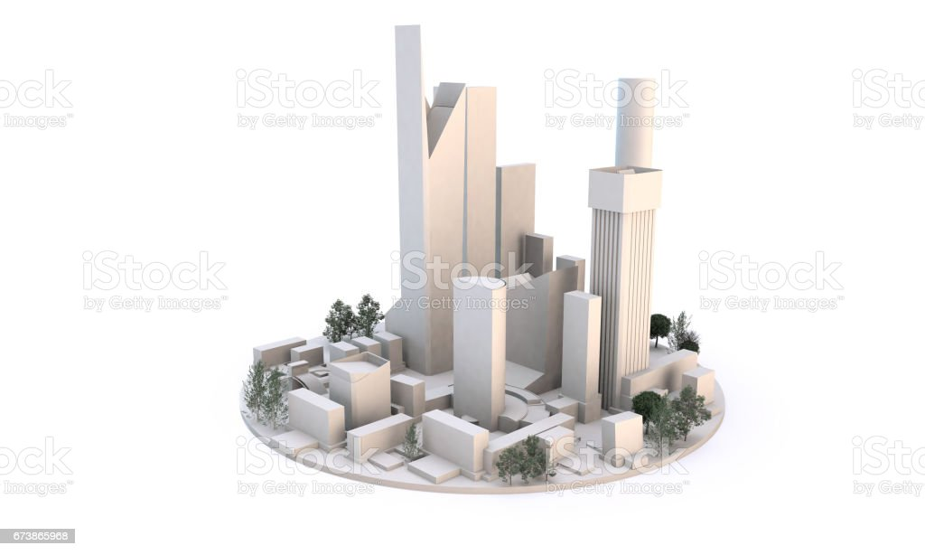 cityscape viewed from ground level (white buildings on white background) royalty-free stock photo