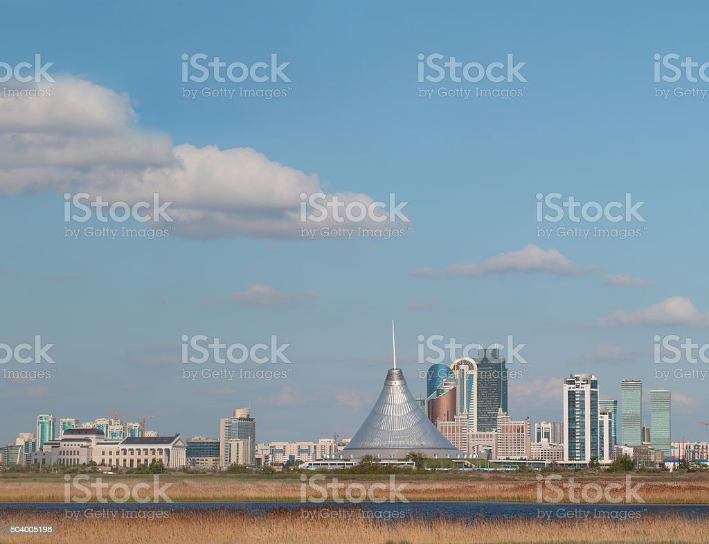Cityscape views of Astana in the summer stock photo