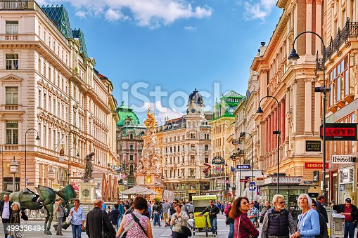 istock Cityscape  views of one of Europe's most beautiful town- Vienna. 499336494