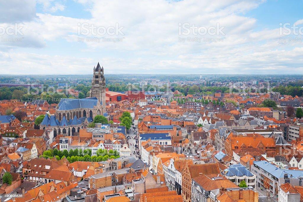 Ville et cathédrale saint-Sauveur-de Bruges - Photo