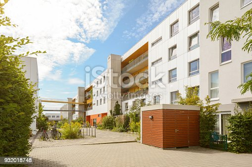 istock Cityscape with modern apartment buildings in a new residential area 932018748