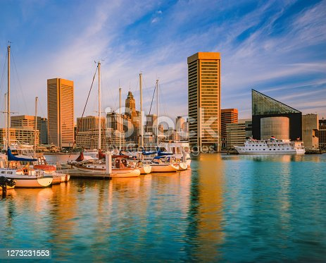 istock Cityscape with skyscrapers of Baltimore skyline Maryland 1273231553