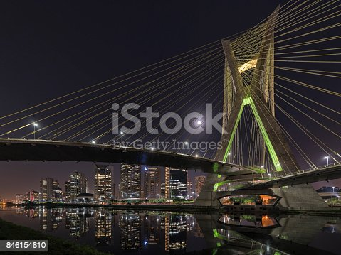 Cityscapes: Major Business Cities - Photo taken on the banks of the Pinheiros River, São Paulo, Brazil