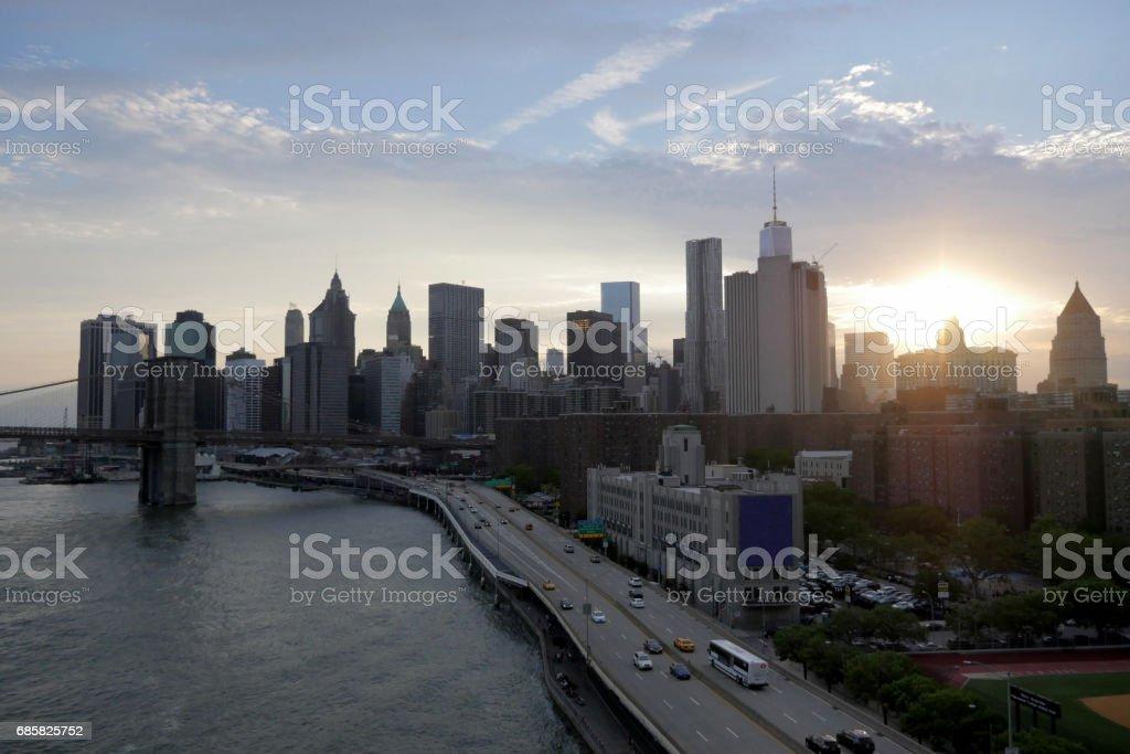 Cityscapes - New York Skyline stock photo