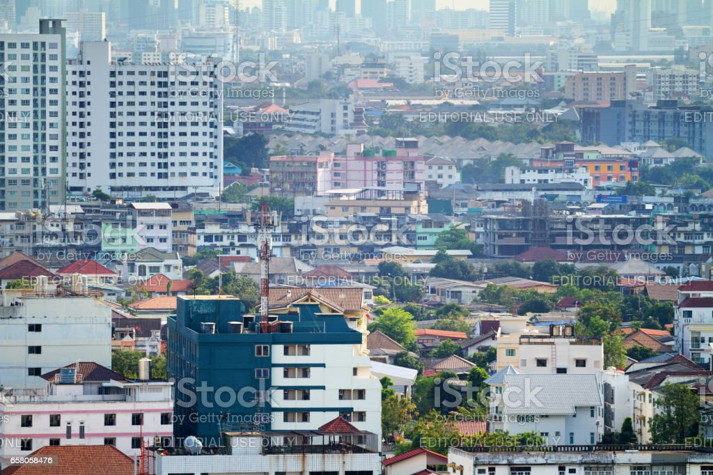 Cityshape of Bangkok Ladprao royalty-free stock photo