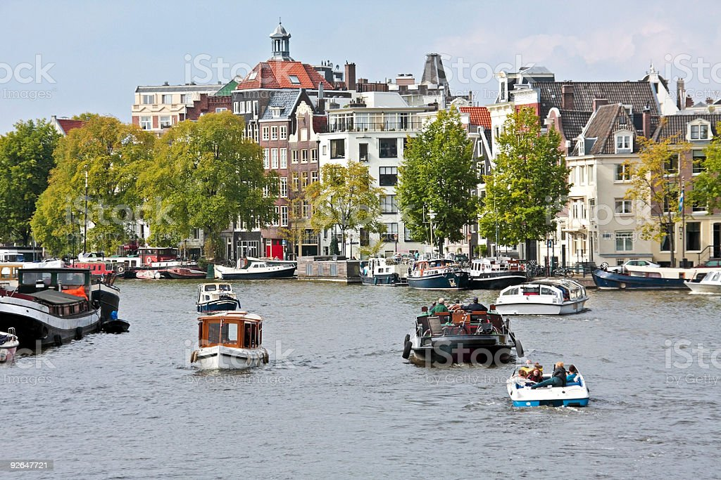 Cityview in Amsterdam the Netherlands royalty-free stock photo
