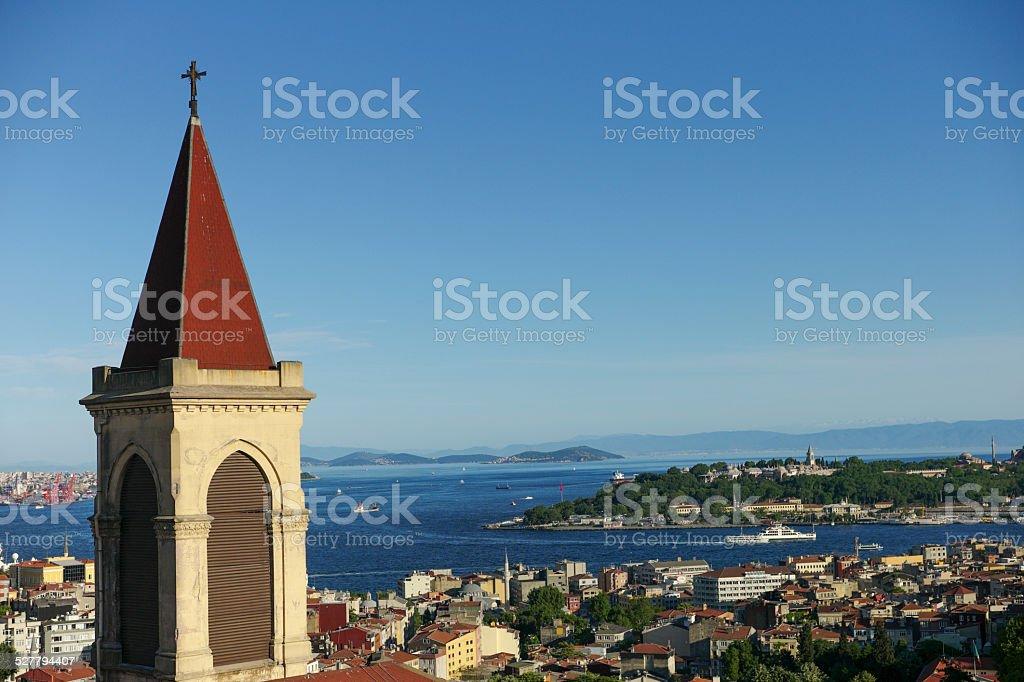cityview of topkapi blue mosque hagia sophia at istanbul turkey stock photo