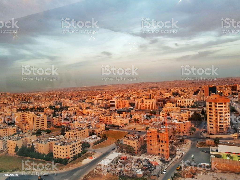 ciudad en de Amman Jordania - foto de stock