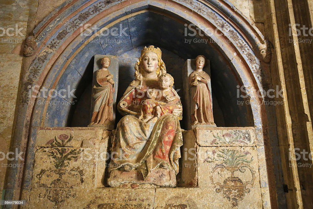 Ciudad Rodrigo - Mother Mary and the Infant Jesus stock photo