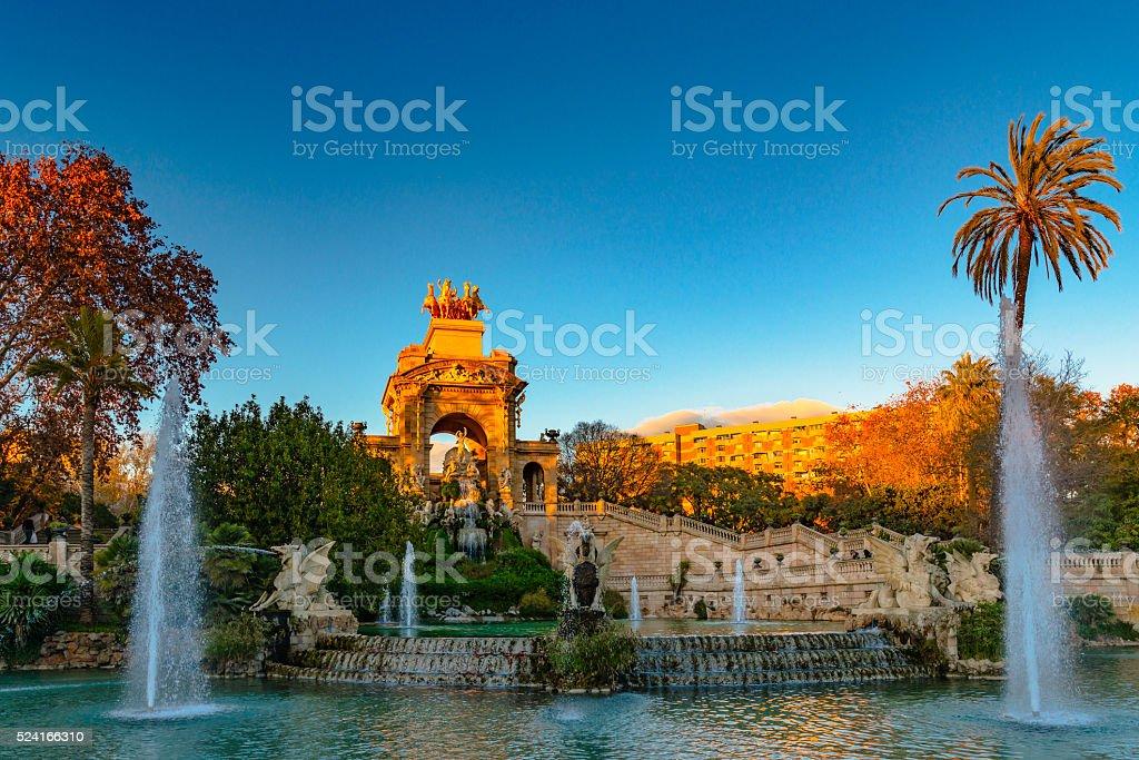 Ciutadella Park stock photo