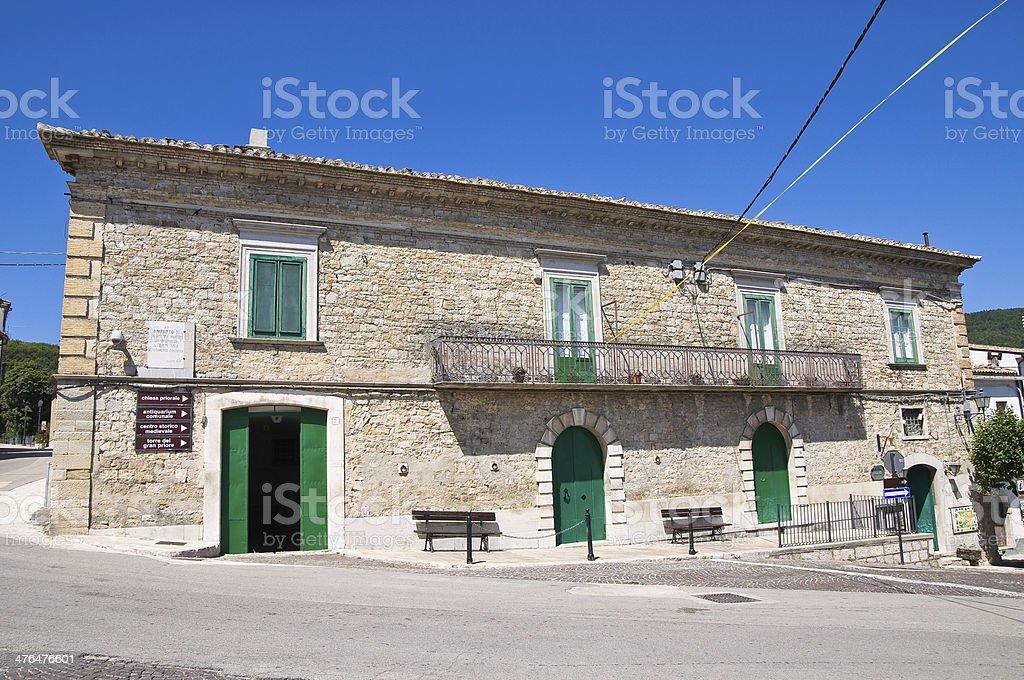 Civetta palace. Alberona. Puglia. Italy. royalty-free stock photo