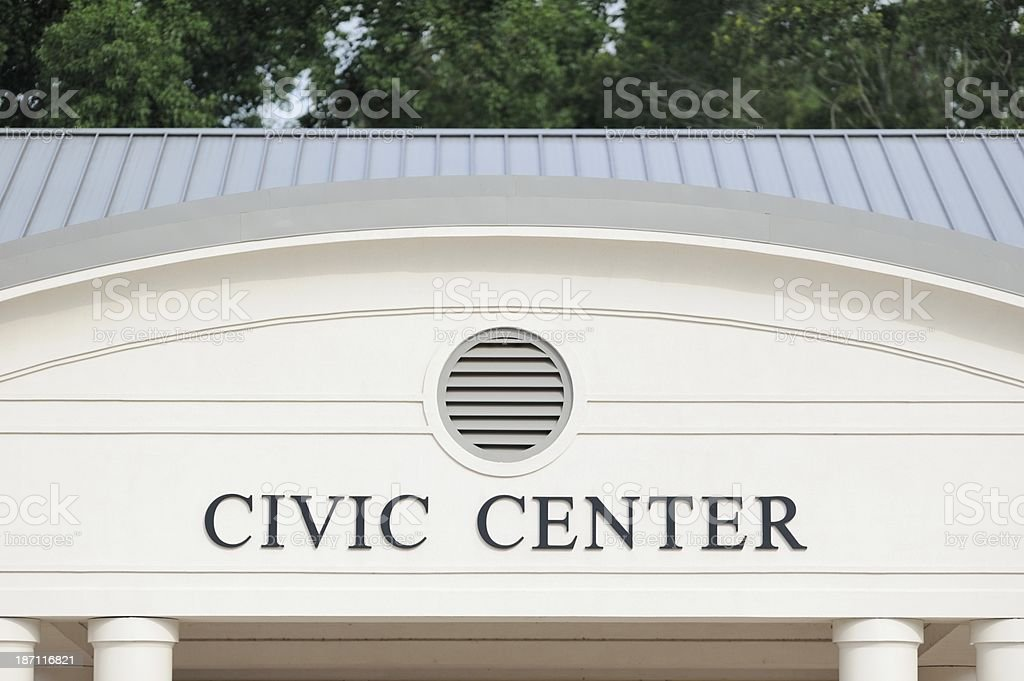Civic center stock photo