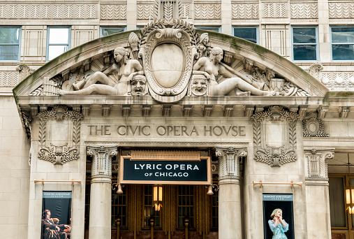 Civic Opera House in Chicago, today it is the permanent home of the Lyric Opera of Chicago, USA