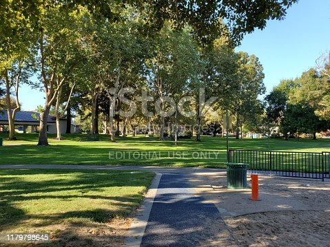 Walnut Creek, California, United States - October 06, 2019:  Photograph taken at Civic Park, a park in Walnut Creek, California, October 6, 2019