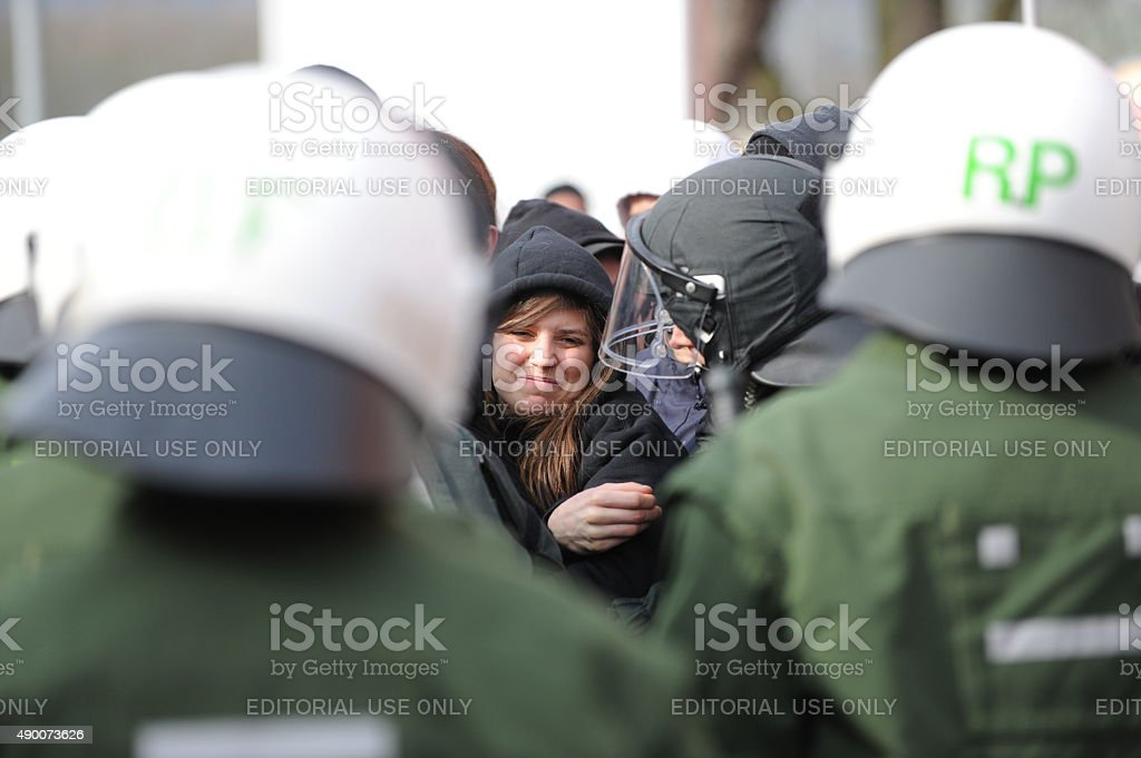Civil disobedience stock photo