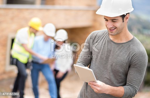 1054724700istockphoto Civil engineer at a construction site 473163360