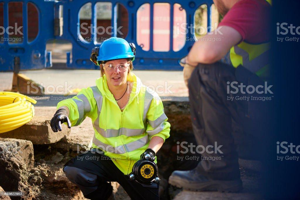 civil engineer stock photo