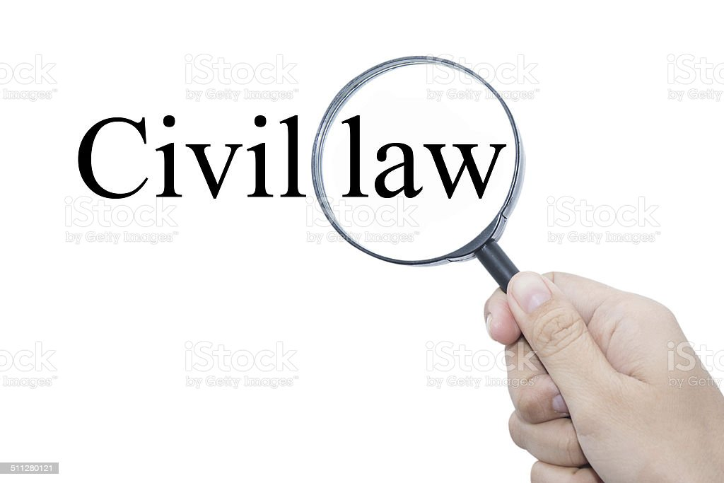 Civil law stock photo