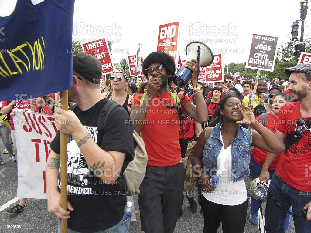 Civil Rights March stock photo