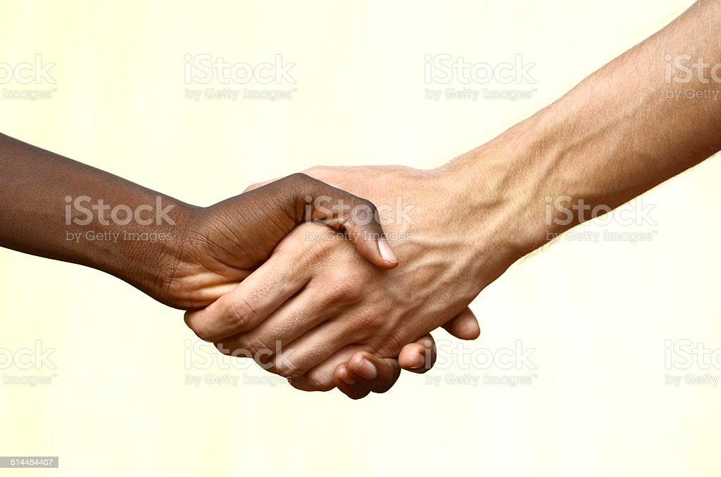 Civil Rights - Teamwork Symbol - Equality on Earth stock photo