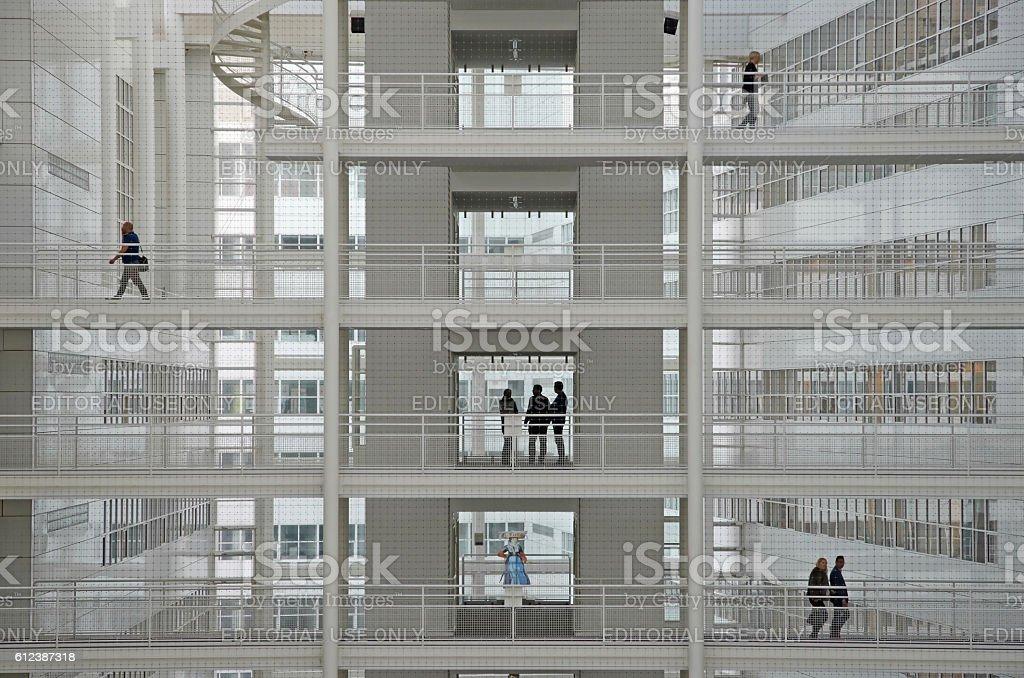 Civil servants in The Hague city hall stock photo