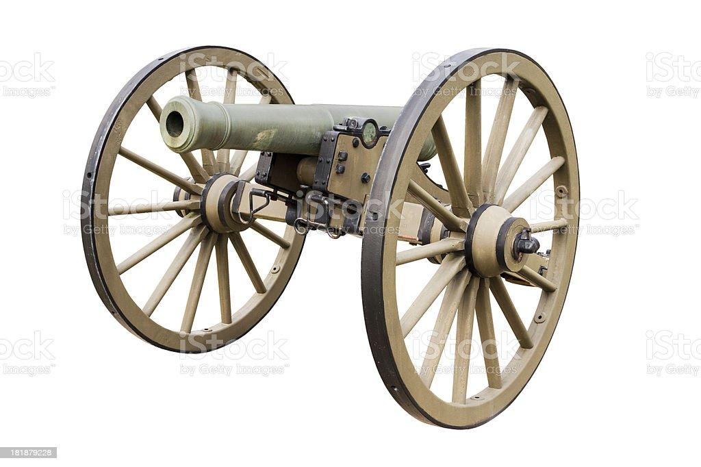 US civil war - 6-pounder field gun on angle stock photo