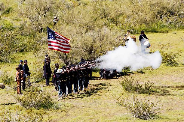 Civil War battle enactment 9  american civil war stock pictures, royalty-free photos & images
