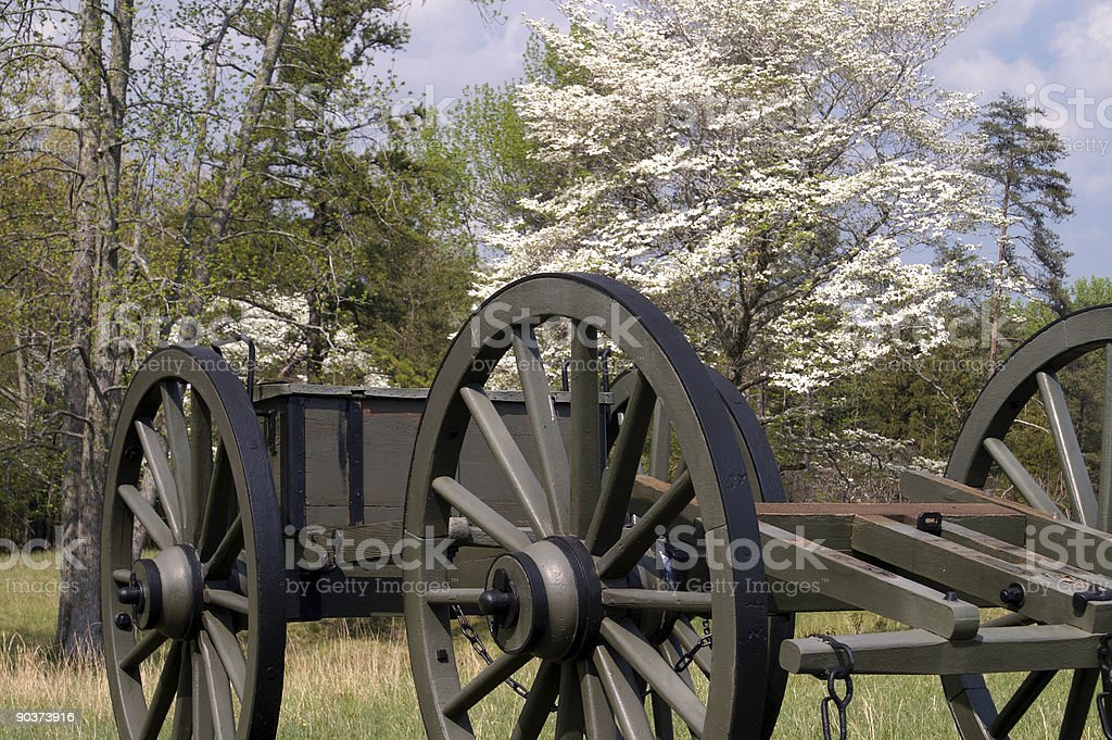Civil War Caisson 1 stock photo