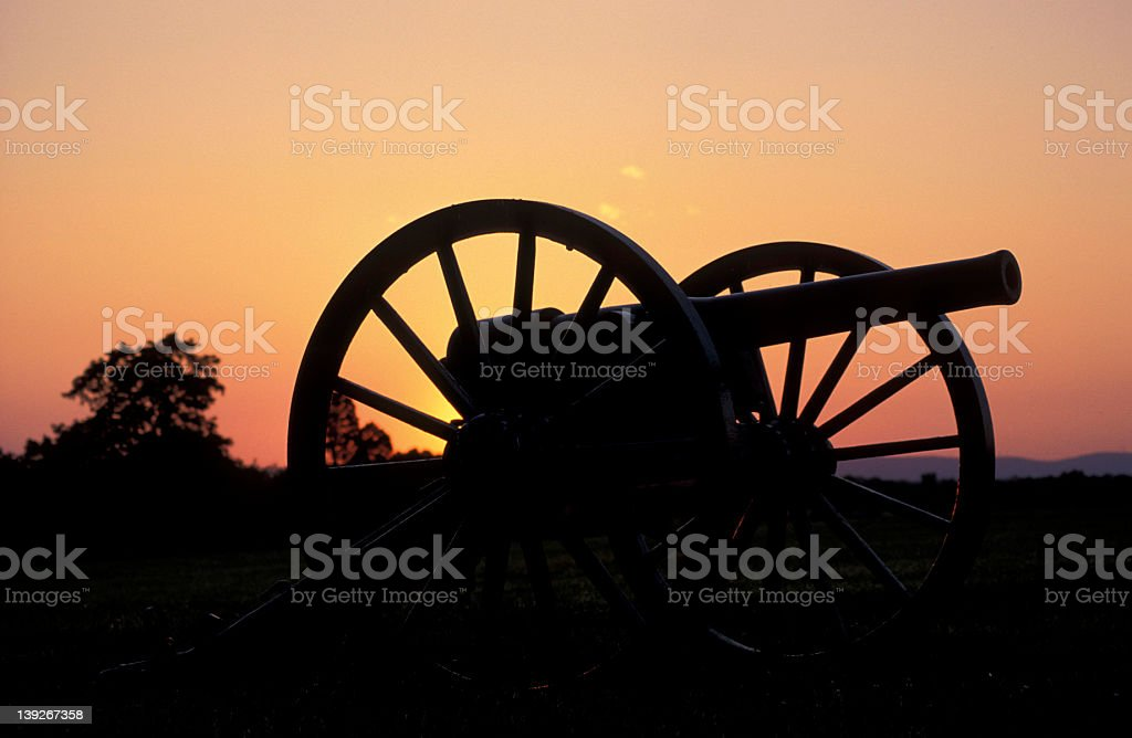 Civil War cannon royalty-free stock photo