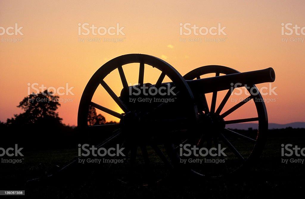Civil War cannon stock photo
