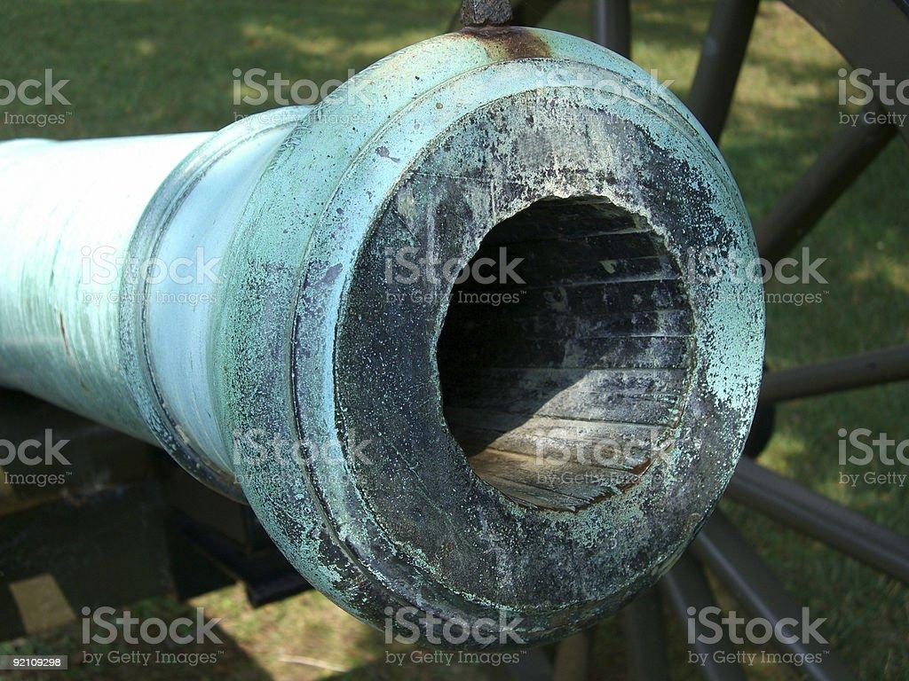 Civil War Cannon-Closeup stock photo