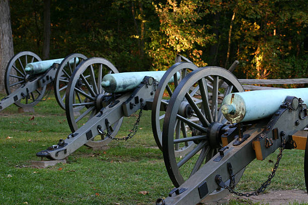 Civil War Cannons  war effort stock pictures, royalty-free photos & images