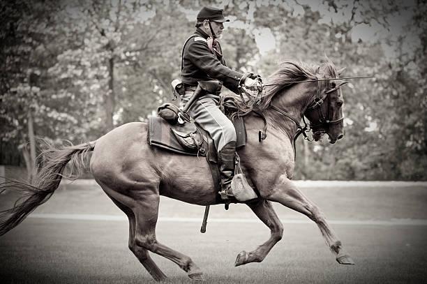 Civil War Captain Charging  american civil war stock pictures, royalty-free photos & images