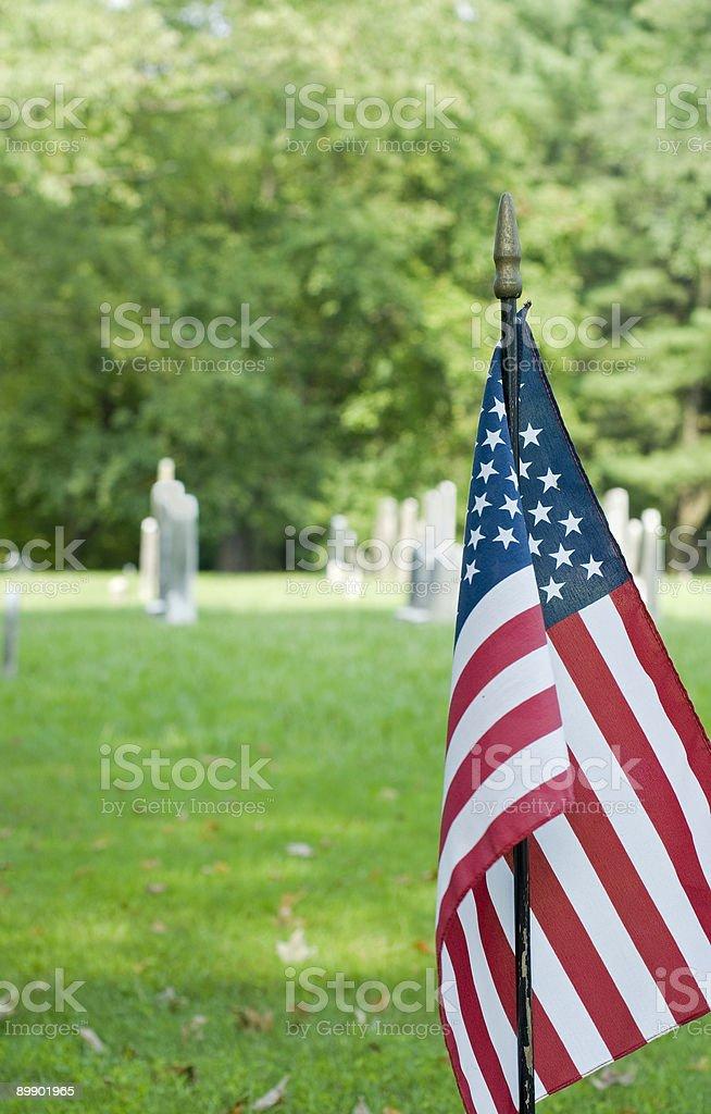 Civil War Cemetary royalty-free stock photo