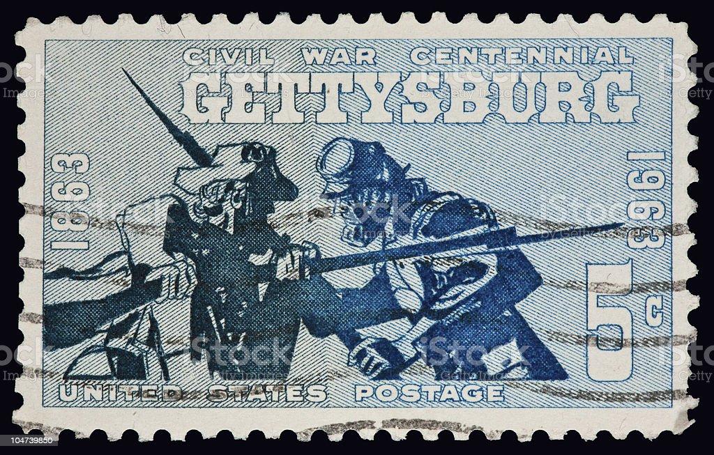 Civil war centennial, Gettysburg stock photo