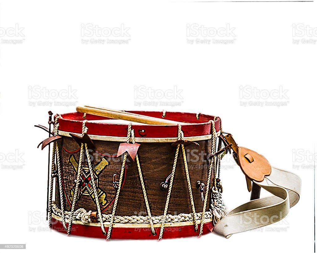 Civil War Drum stock photo