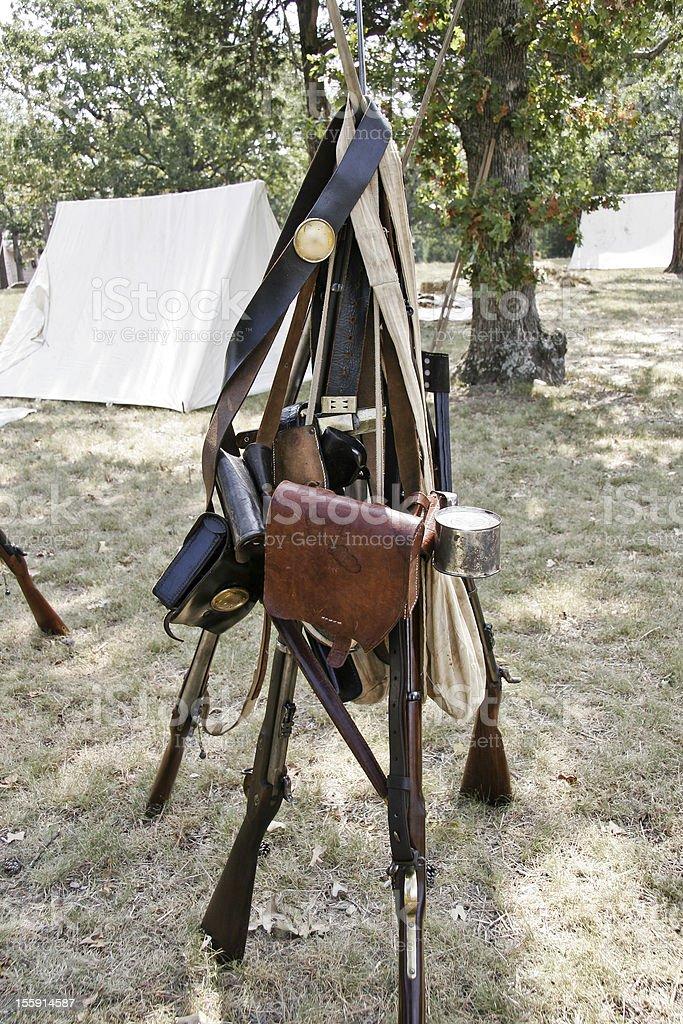 Civil war encampment royalty-free stock photo