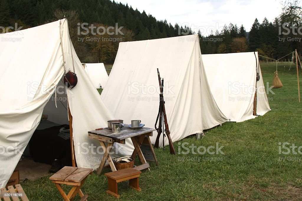 Civil War Encampment stock photo