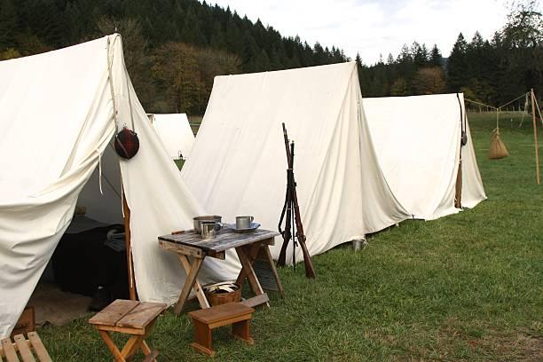 Best Civil War Reenactment Tents Stock Photos, Pictures