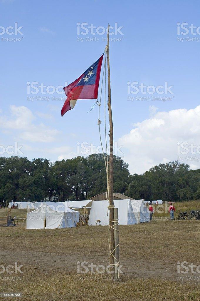 Civil War Flag stock photo